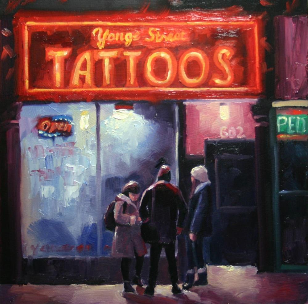 """Decisions, Yonge Street Tattoo"" original fine art by Catherine Jeffrey"