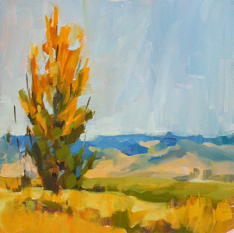 """Turning - Plein Air painting"" original fine art by Melanie Thompson"