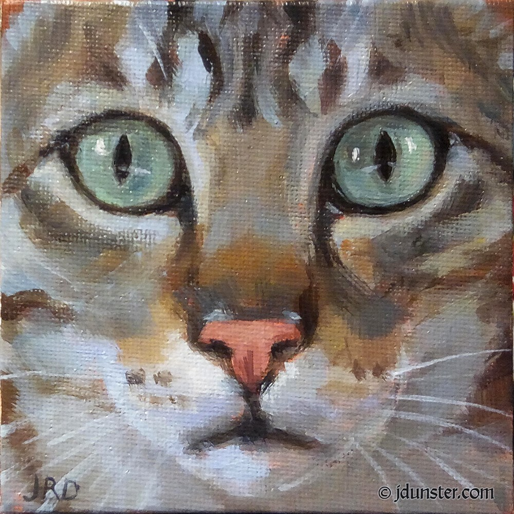 """STARE #2"" original fine art by J. Dunster"