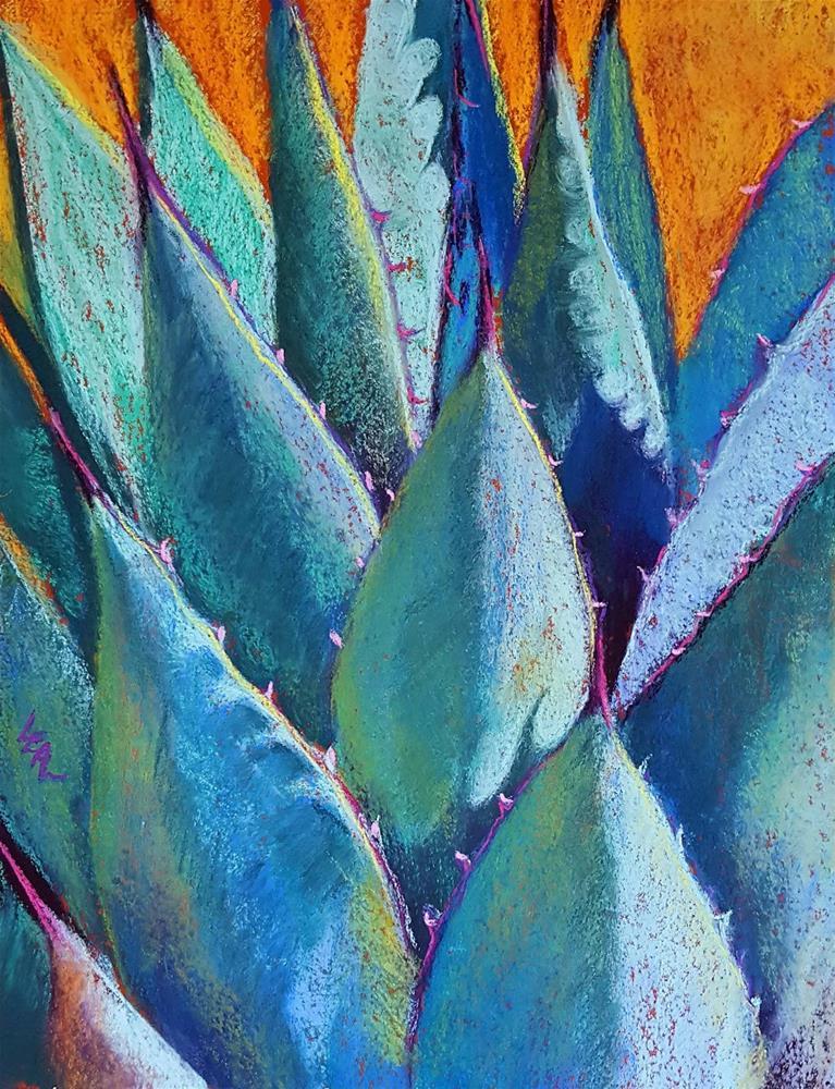 """Hot Blues"" original fine art by Anna Lisa Leal"