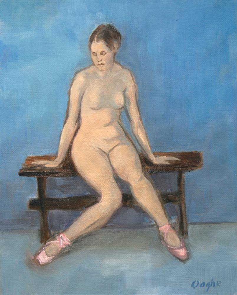 """Nude in Ballet Shoes"" original fine art by Angela Ooghe"