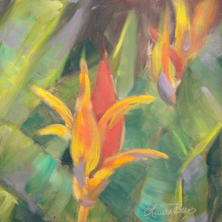 """Tropical Getaway 429"" original fine art by Laura  Buxo"