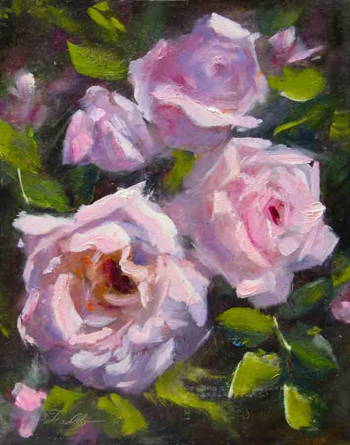 """""""Pink Whispers Revisited"""" original fine art by Pat Fiorello"""