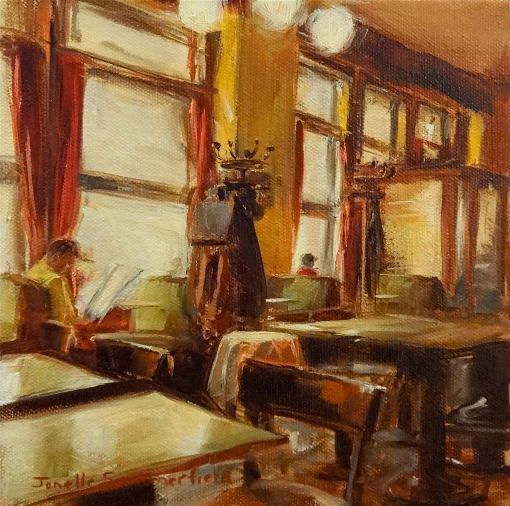 """Cafe Braunerhof II"" original fine art by Jonelle Summerfield"