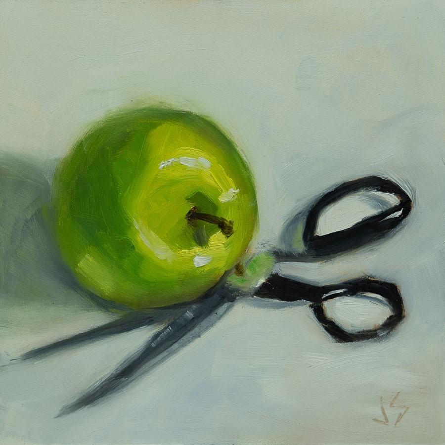 """""""Tart and Sharp"""" original fine art by Johnna Schelling"""