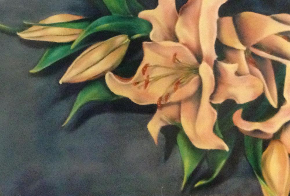 """Lilies"" original fine art by Karen Collins"