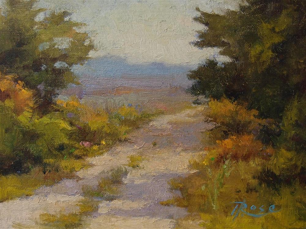 """Berkshire Path"" original fine art by Howard Rose"