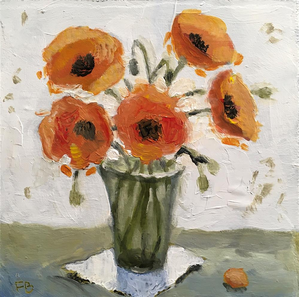 """269 Poppies"" original fine art by Fred Bell"