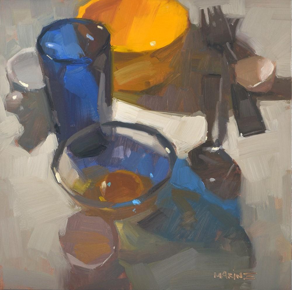 """One Egg Breakfast"" original fine art by Carol Marine"