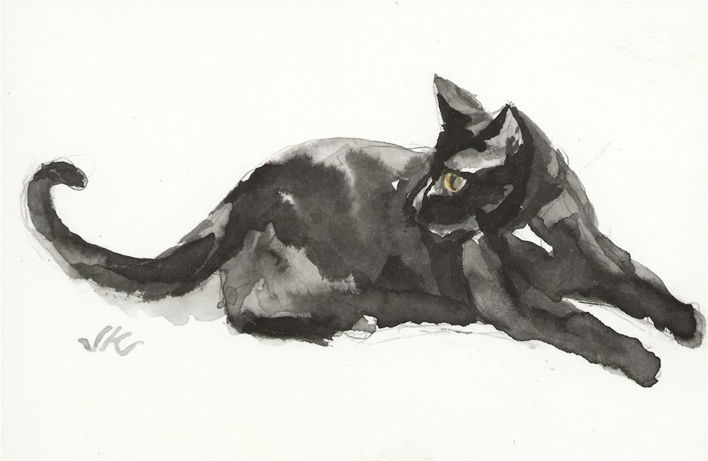 """Daily Cat 147"" original fine art by Jean Krueger"