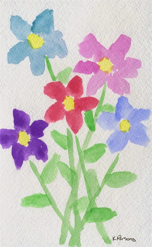 """""""A Bouquet"""" original fine art by Kali Parsons"""