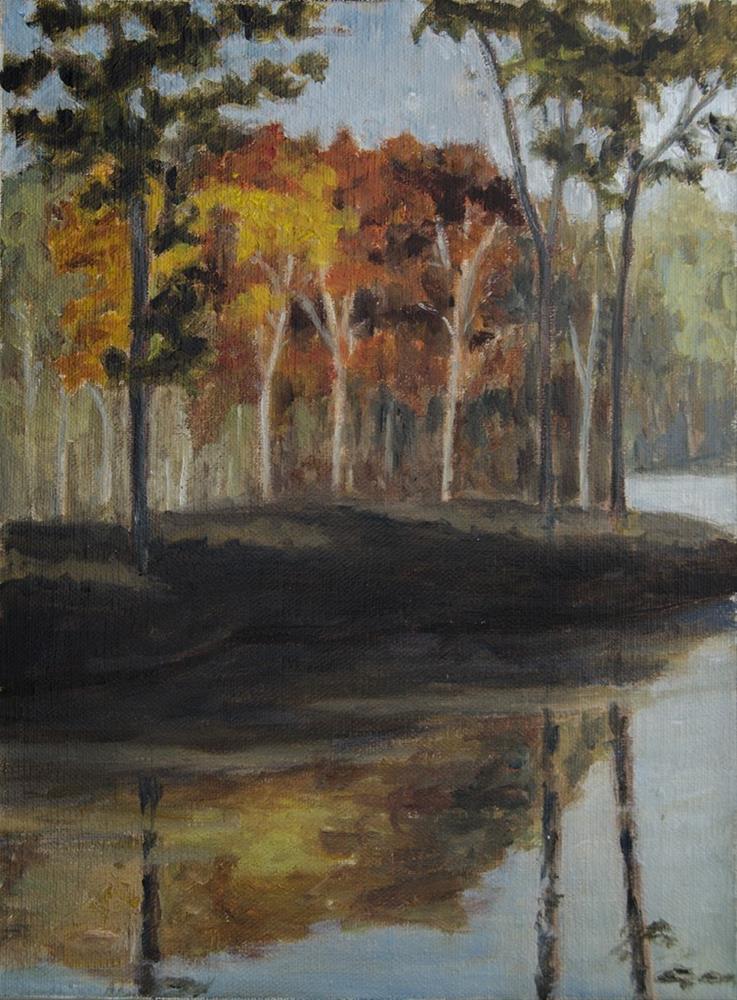 """Fall colors near Mississinaw Lake"" original fine art by Rachel Steely"