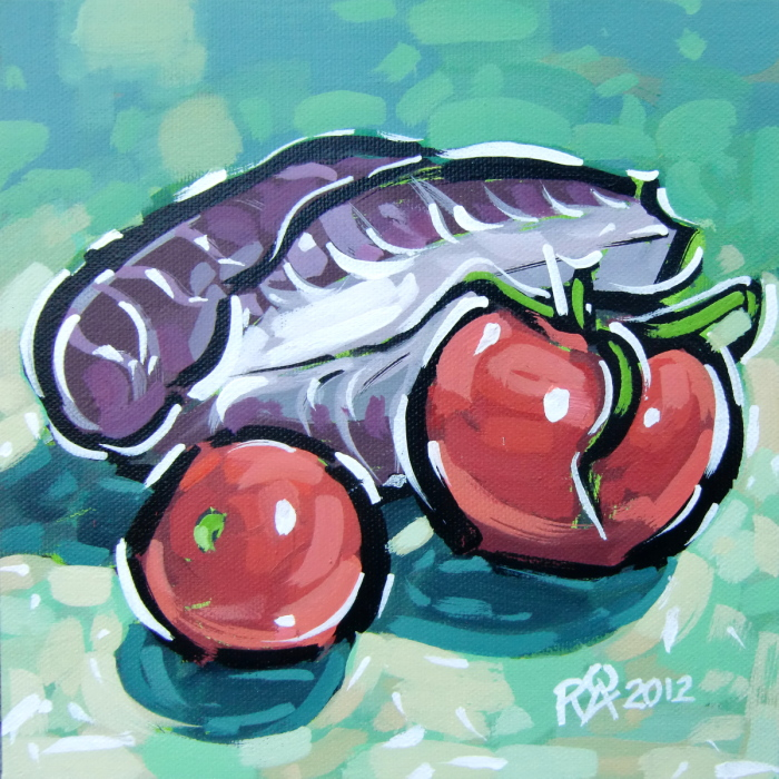"""""""Tomatoes and radicchio"""" original fine art by Roger Akesson"""