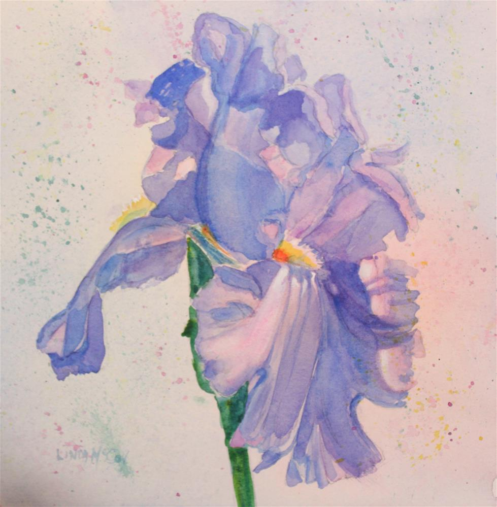 """""""My Wild Iris Rouge,  Painting by Linda McCoy"""" original fine art by Linda McCoy"""