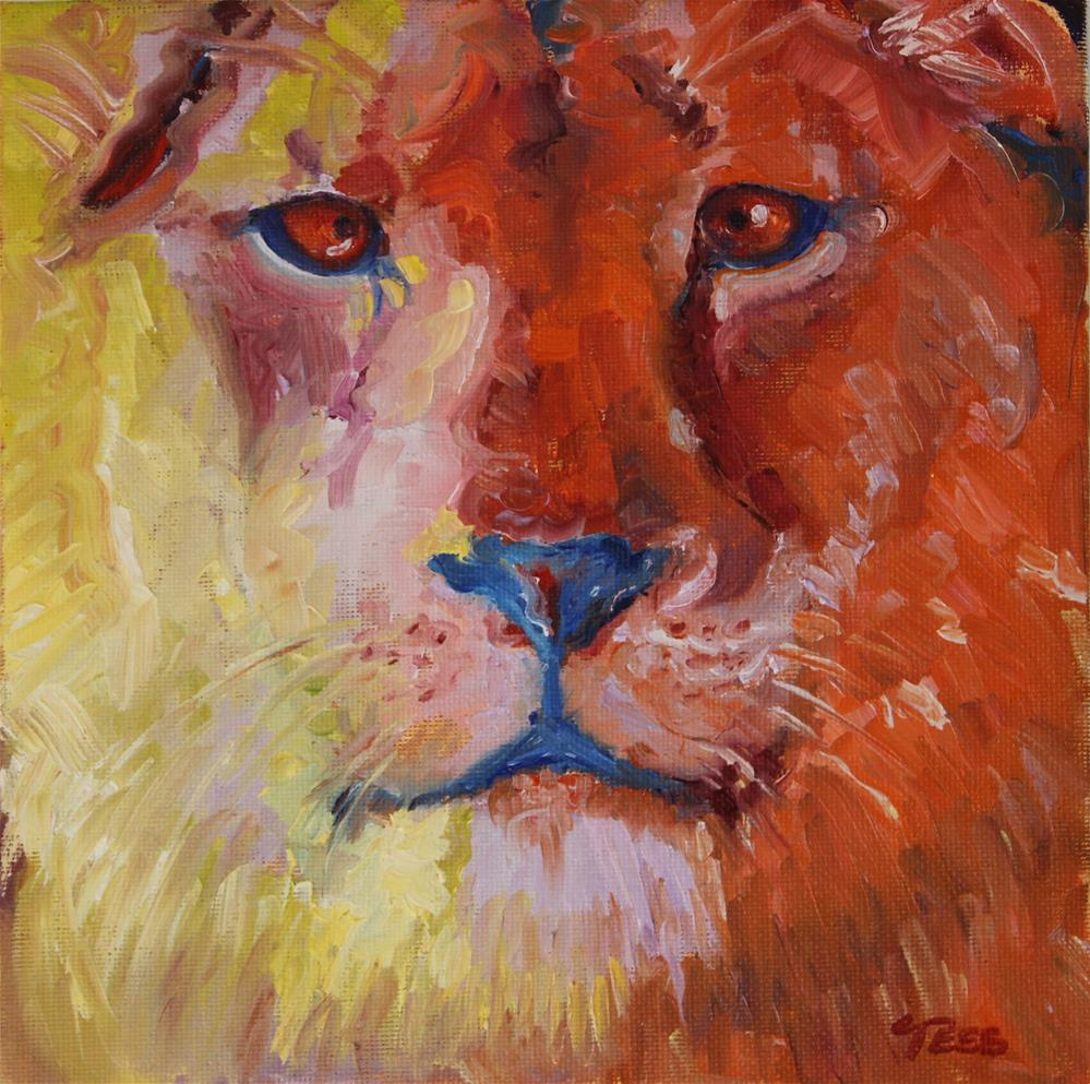 """""""Welcome to the Jungle- Guns and Roses"""" original fine art by Tess Lehman"""