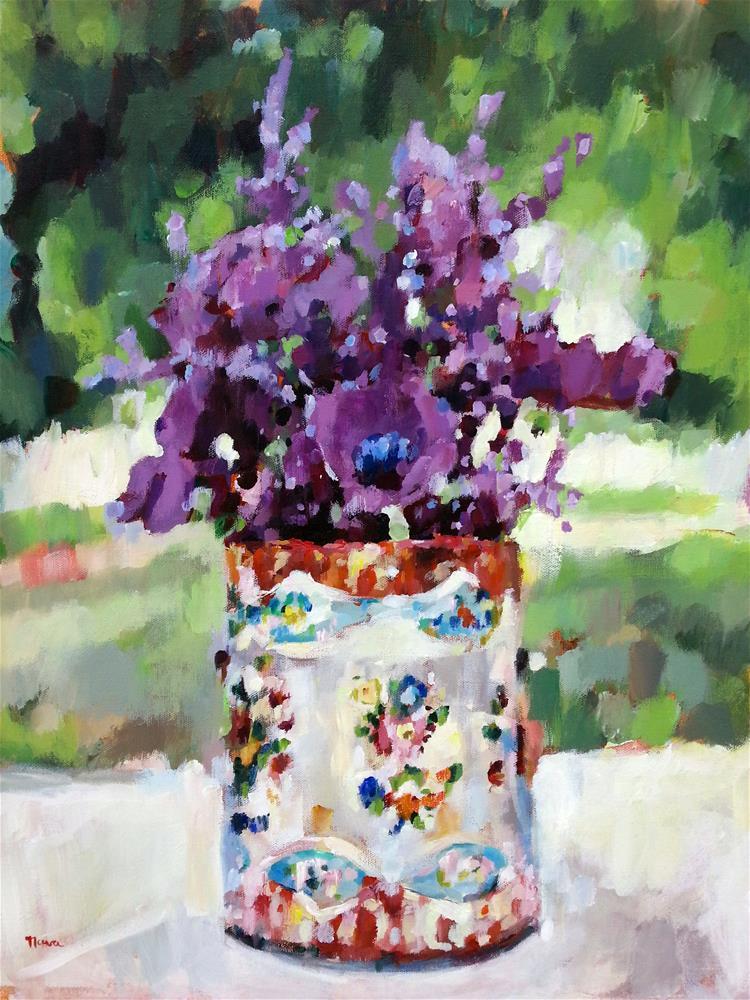 """Bohemian Blooms"" original fine art by Nava Judith"