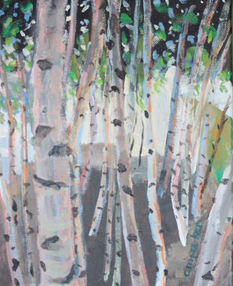 """Birch Trees"" original fine art by Christine Parker"