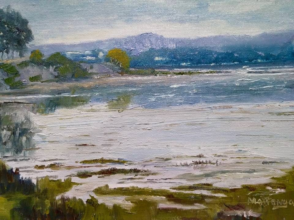 """Full Tide - Back Bay"" original fine art by Patricia Matranga"