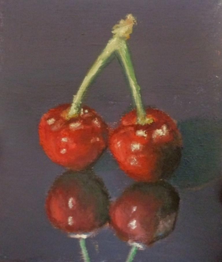 """""""Cherries"""" original fine art by Maria Z."""