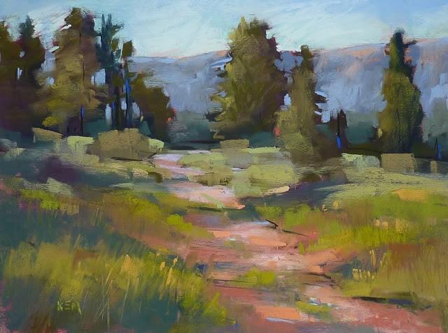 """Pastel Mini Demo...Landscape Painting from a Black & White Photo"" original fine art by Karen Margulis"