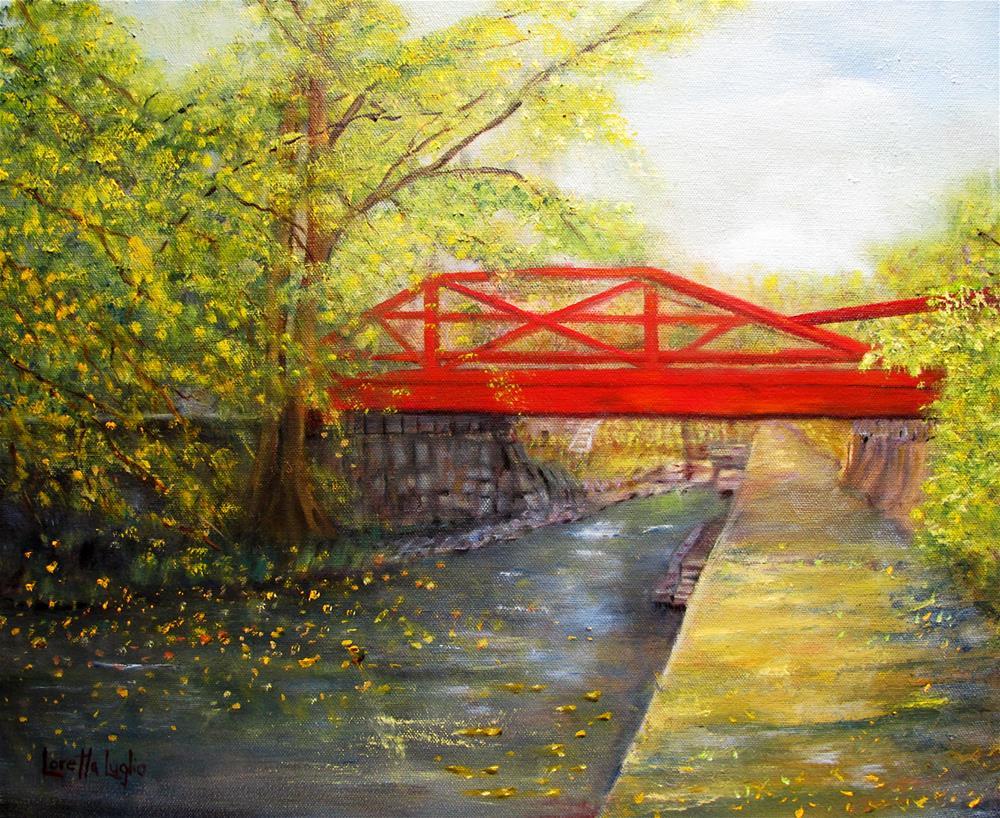 """""""Towpath in New Hope"""" original fine art by Loretta Luglio"""
