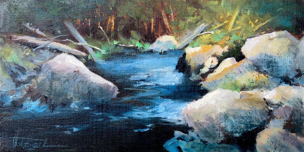 """Where the light hits"" original fine art by Christa Friedl"
