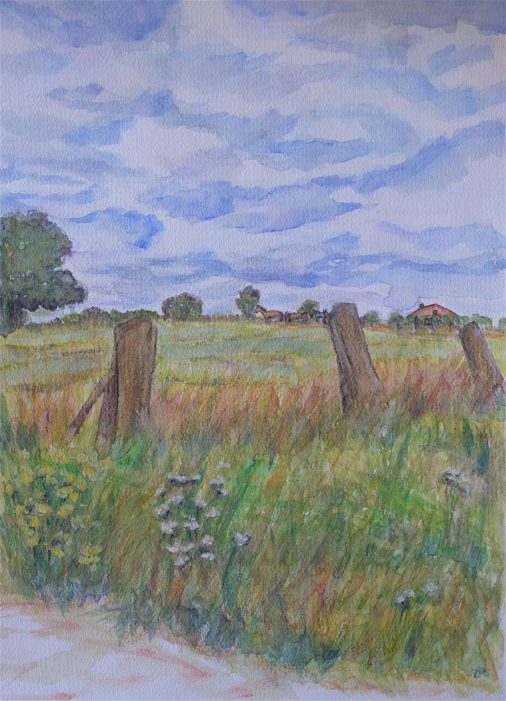 """St. Katerina- Lombeek Field"" original fine art by Laura Denning"
