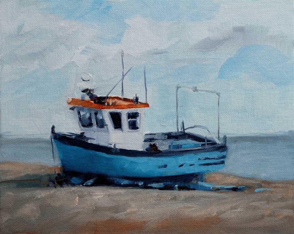 """Beached Boat"" original fine art by Clair Hartmann"