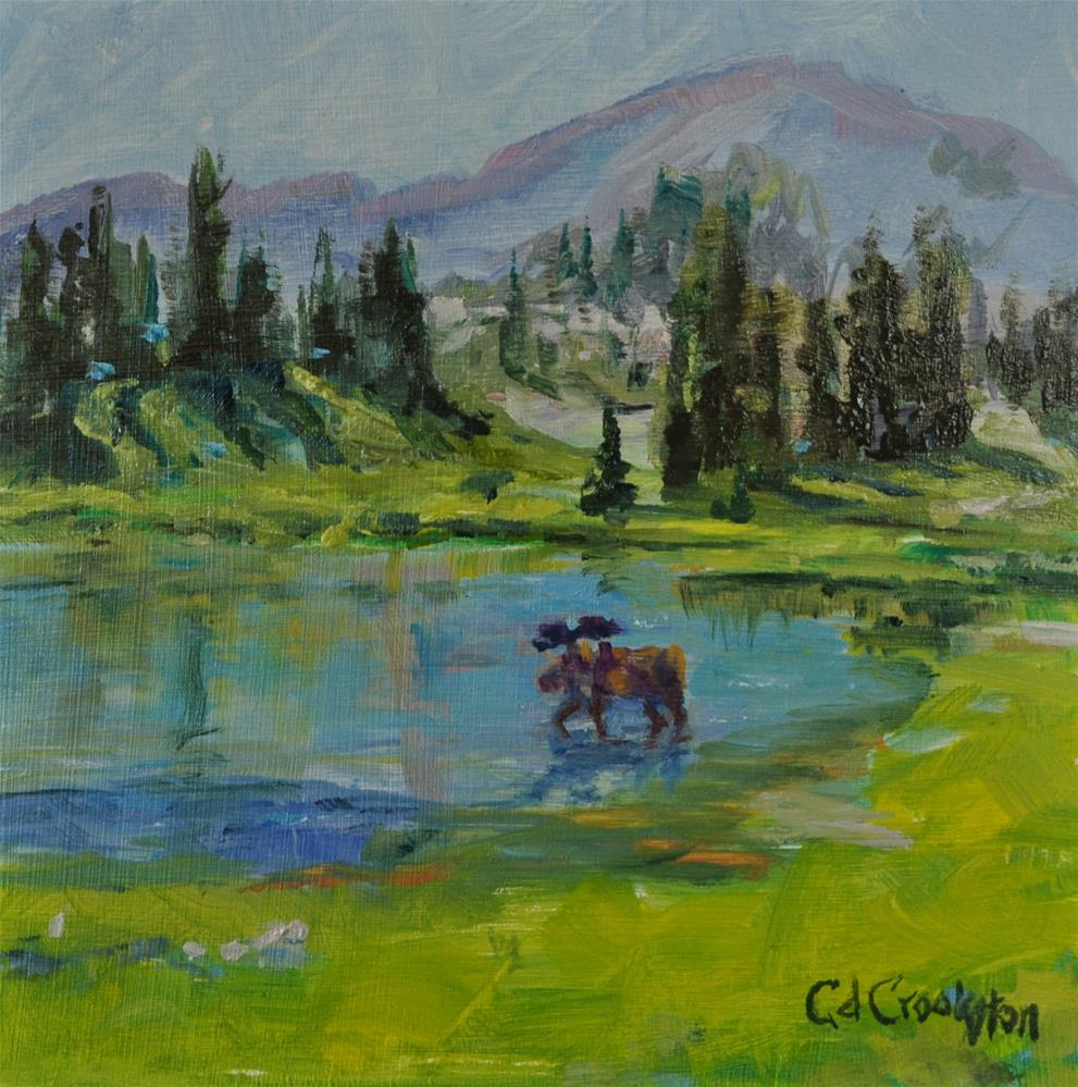 """Watering Hole"" original fine art by Catherine Crookston"