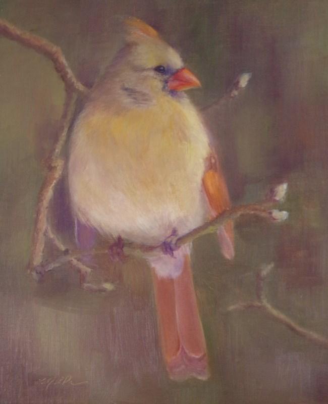 """""""Lady Bird"""" original fine art by Marilyn R. Place"""