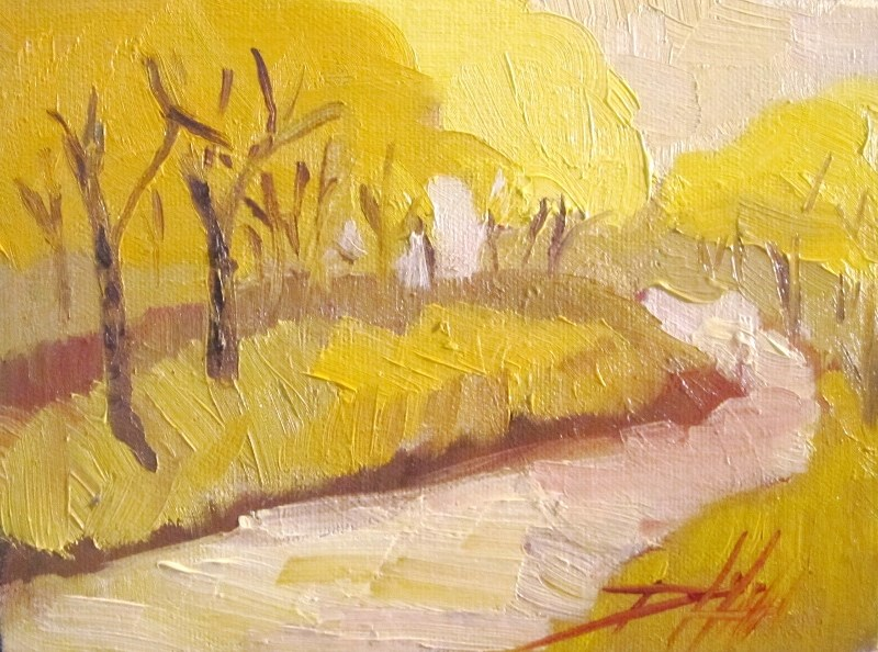 """A Yellow Kaleidoscope"" original fine art by Delilah Smith"