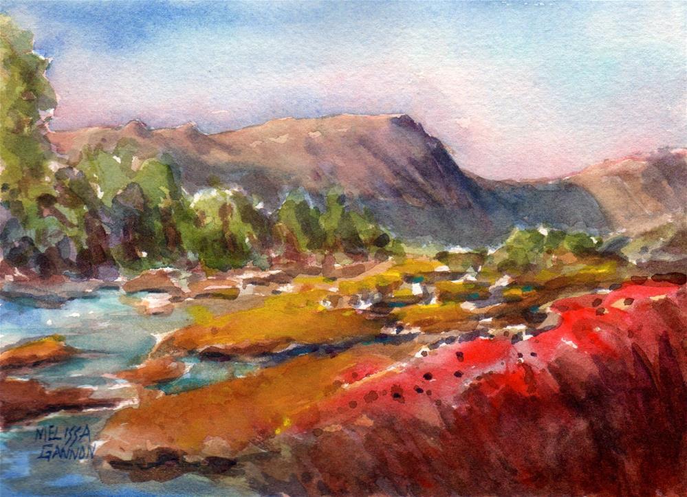 """Alpine Meadow"" original fine art by Melissa Gannon"