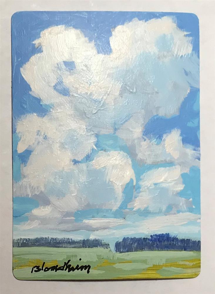 """Miniature Painting Clouds"" original fine art by Linda Blondheim"