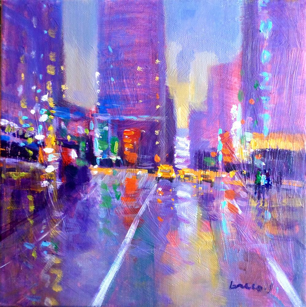 """Reflection in new york"" original fine art by salvatore greco"