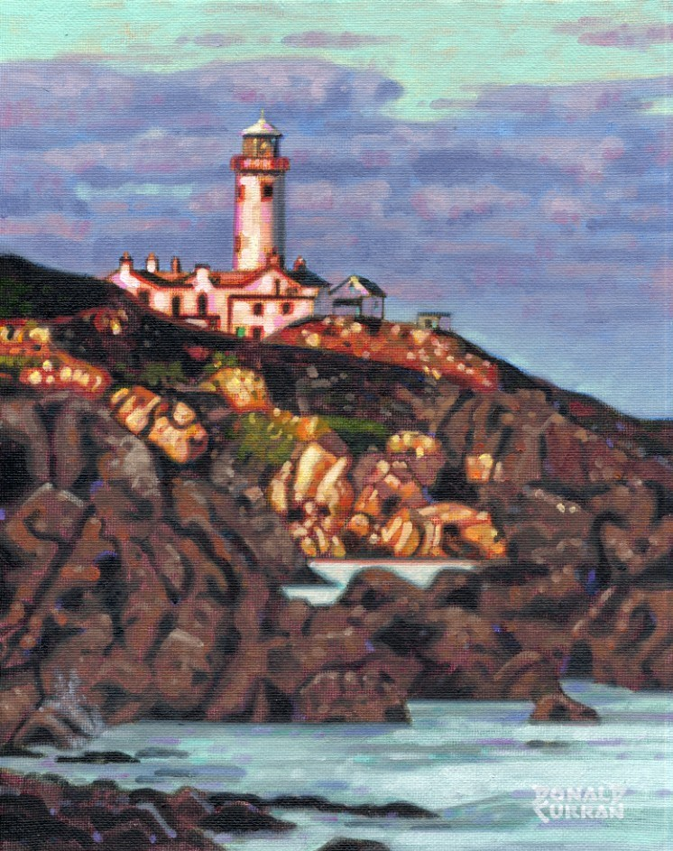 """Irish Lighthouse"" original fine art by Donald Curran"