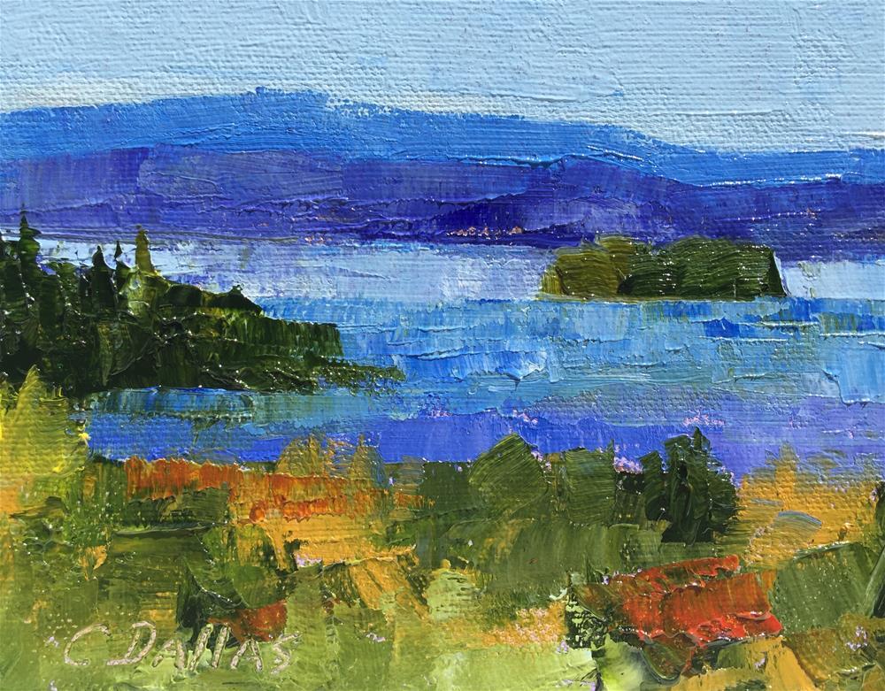 """Lake Champlain Impressions"" original fine art by Carol Dallas"