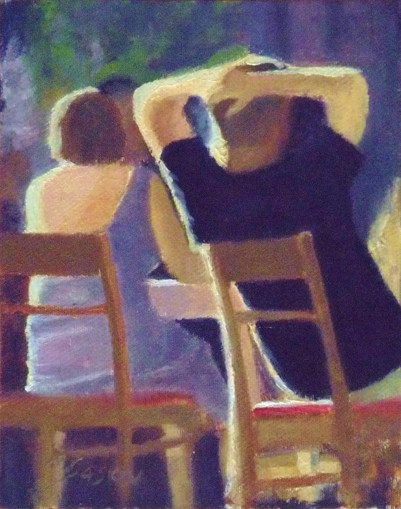 """Why not relax"" original fine art by Michael Sason"
