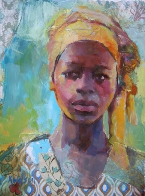 """Ghana Girl"" original fine art by Katie Wilson"