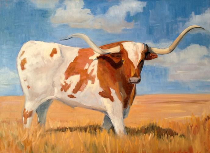 """University of Texas Mascot"" original fine art by Deborah Newman"