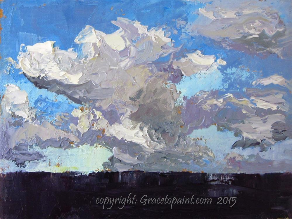 """Sky Versus Sea"" original fine art by Maresa Lilley"