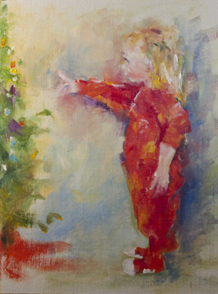 """Christmas Magic"" original fine art by Sue Churchgrant"