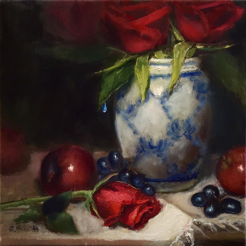"""Red, White and Blue"" original fine art by Sherri Burritt"