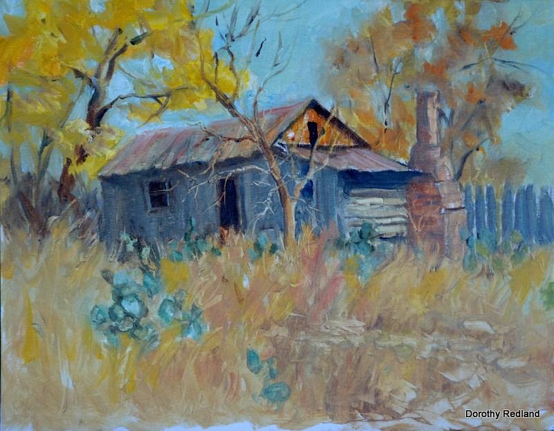"""""""Buds old shack"""" original fine art by Dorothy Redland"""