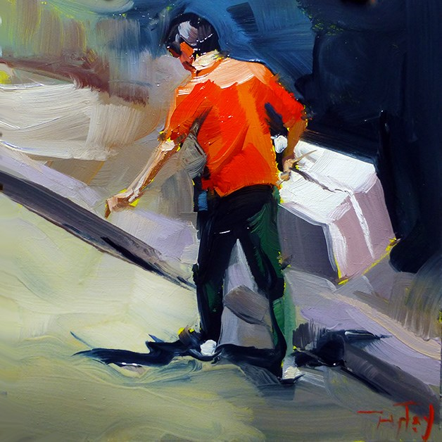 """Postbote"" original fine art by Jurij Frey"