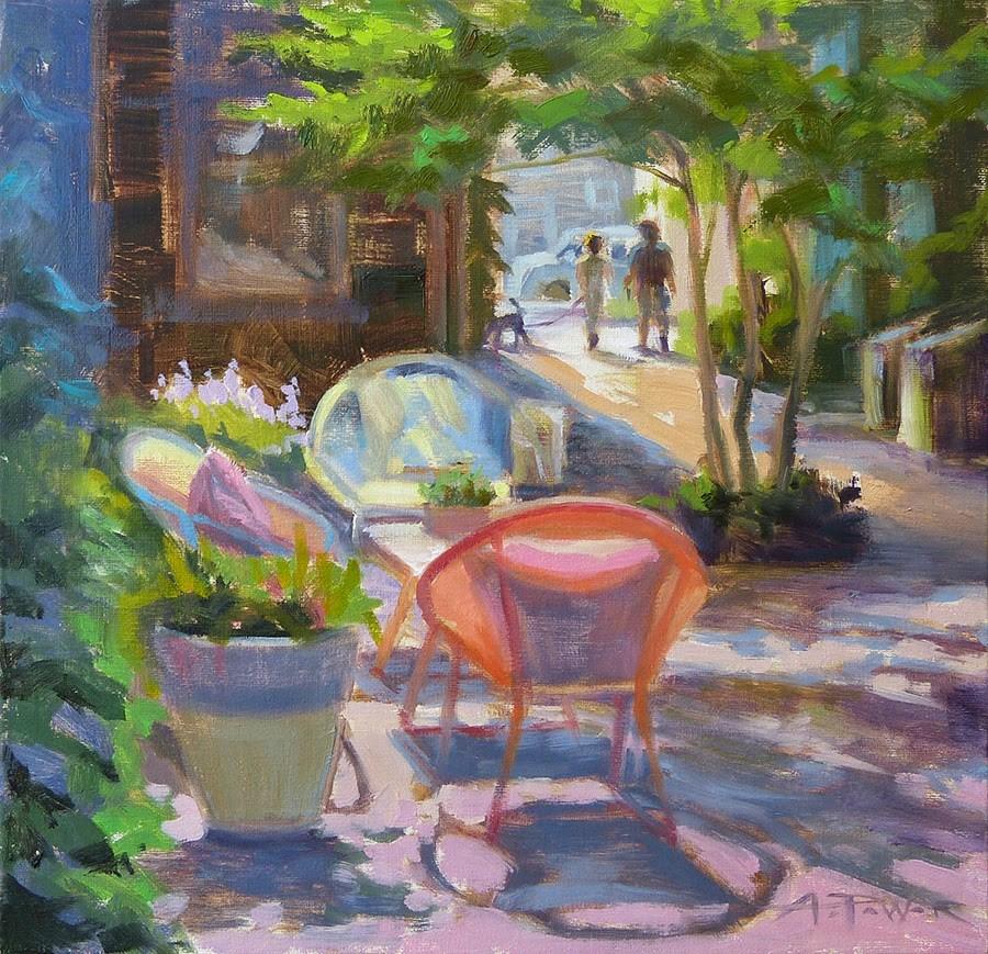 """Nantucket Walk"" original fine art by Anette Power"