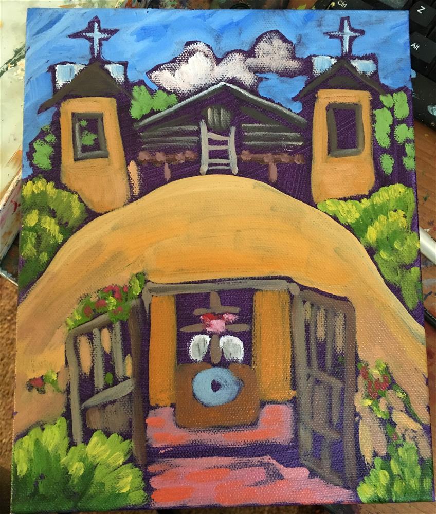"""""""Santuario de Chimayo"""" original fine art by Robyn Wellman"""