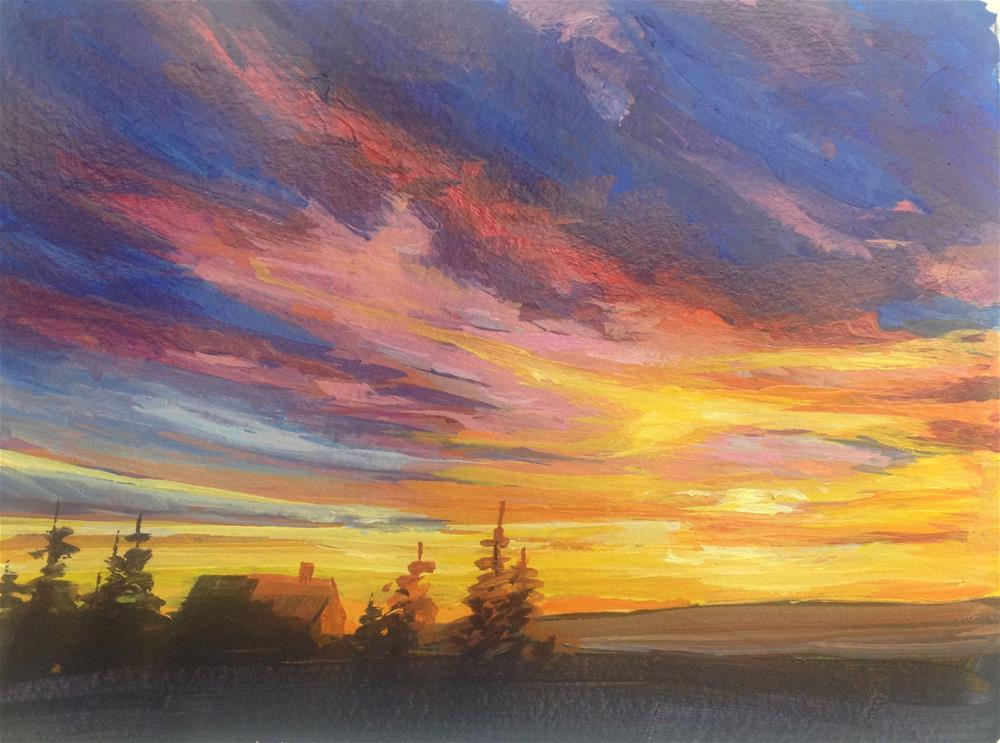 """Sunset Study 3"" original fine art by gabriele baber"