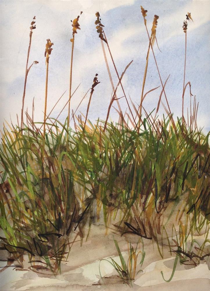 """Afternoon Dunes"" original fine art by Linda Lowery"