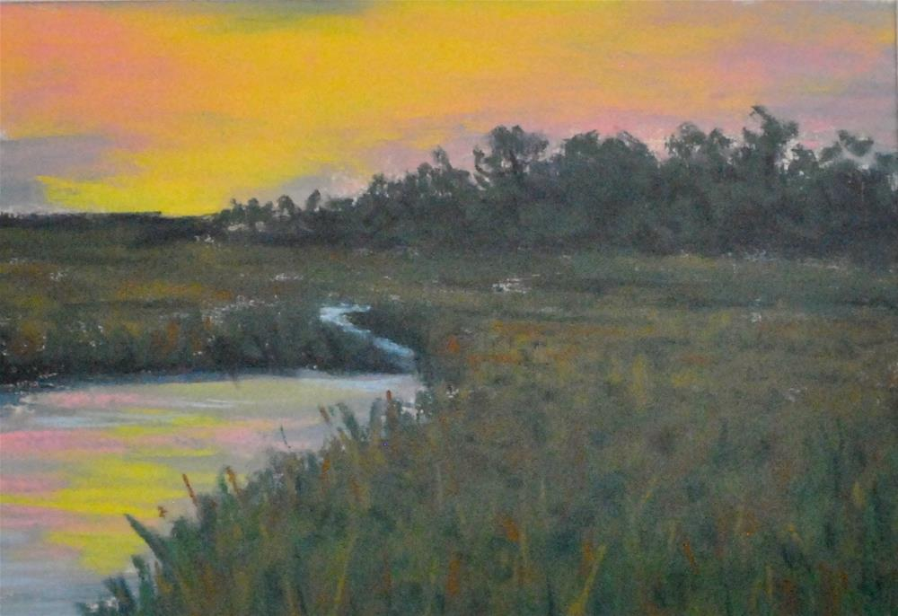 """Marsh Sunset"" original fine art by Darla Brock"