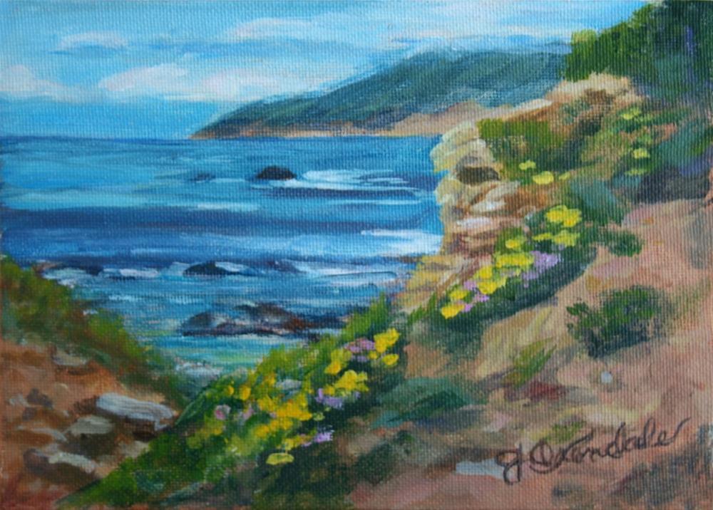 """Ocean View"" original fine art by Jan Oxendale"